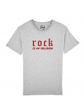 T-SHIRT HOMME ROCK IS MY RELIGION