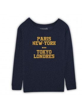 SWEAT COL LARGE PERSONNALIS2 PARIS NEW YORK